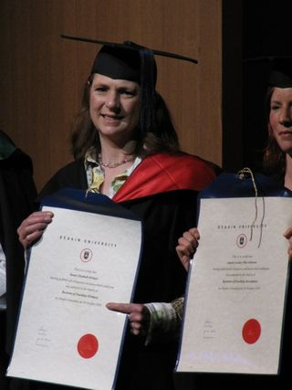 Susan graduates