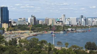 Perth CBD from Lord Forrest Statue Lookout - 3