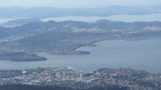 Hobart from Mt Wellington - 2