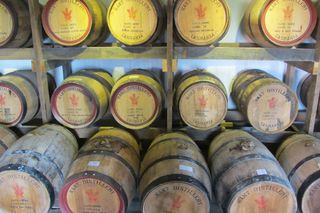Maturing whiskey