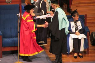 Callum awarded his degree - 2