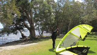 Kite surfing on the Broadwater - 1